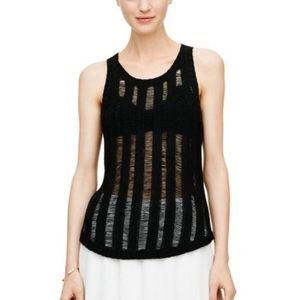 Club Monaco Black Italian Yarn Frances Tank S